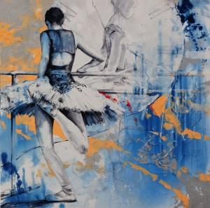 Laurretta´s Corsario VI. Óleo. 100x100 (Blue Dream)