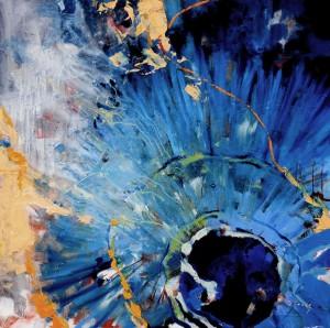 Laurretta´s Corsario XII. Óleo. 100x100 (Blue Dream)