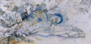Laurretta´s Blue Dream. Técnica mixta. 45 x 110 (Blue Dream)