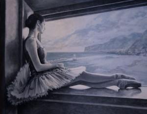 Laurretta´s moment in time. Óleo. 110x140 (Blue Dream)